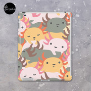 AXOLOTL WAVE - We are the CUTEST CREATURE in the Water World iPad Case & Skin