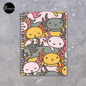 AXOLOTL WAVE Style 2 - We are the CUTEST CREATURE in the Water World Spiral Notebook