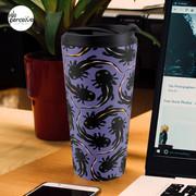 WE LOVE M.C. ESCHER style - Axolotl symmetrical pattern Travel Mug