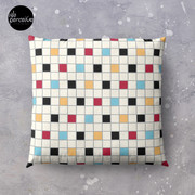 We LOVE the 80s - VINTAGE grid pattern Floor Pillow