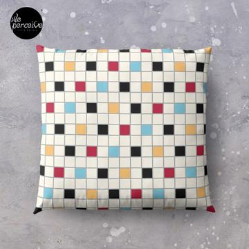We LOVE the 80s - VINTAGE grid pattern Floor Pillow