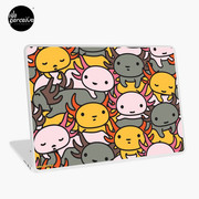 AXOLOTL WAVE Style 2 - We are the CUTEST CREATURE in the Water World Laptop Skin