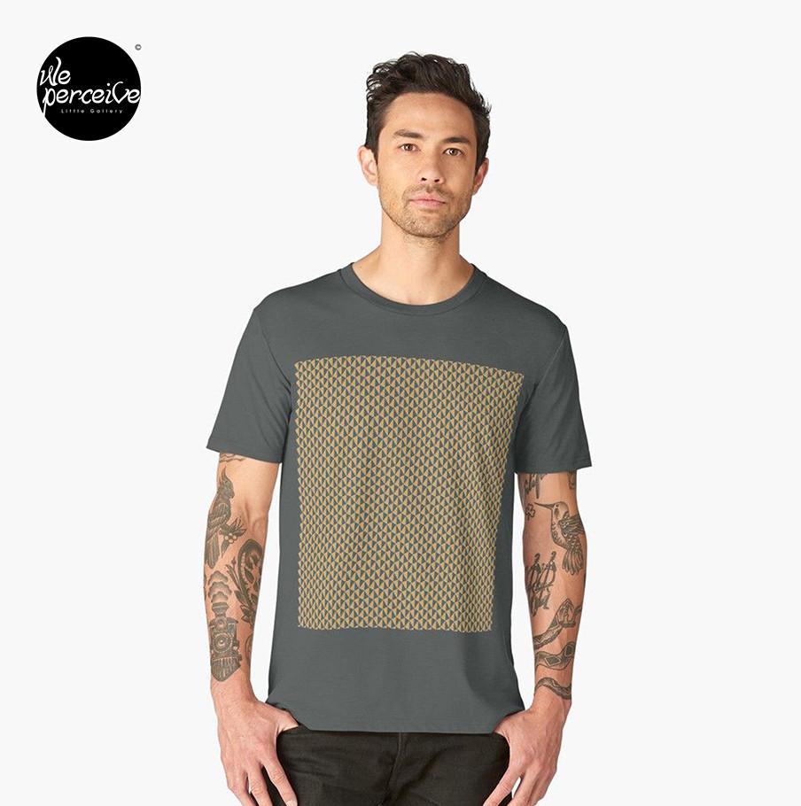 Geometric pattern design t-shirt in grey