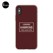 TV series inspired collection | Stranger things | LEAVING HAWKINS, COME AGAIN SOON | Dark red iPhone Case & Cover