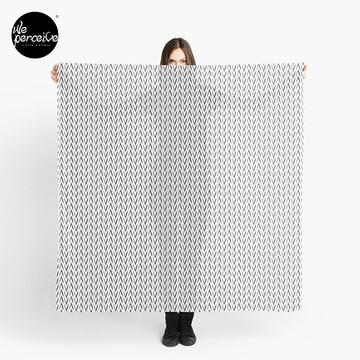 Geometric designed scarf