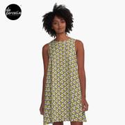 Geometric Cubes A-Line Dress