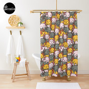 AXOLOTL WAVE Style 2 - We are the CUTEST CREATURE in the Water World Shower Curtain