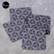 WE LOVE M.C. ESCHER style - Axolotl symmetrical pattern Coasters (Set of 4)