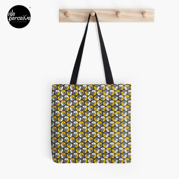 Geometric Cubes Tote Bag