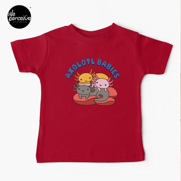 AXOLOTL WAVE Style 2 - We are the CUTEST CREATURE in the Water World Kids T-Shirt in Red