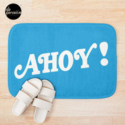 AHOY - Energetic and Positive Style in Sky Blue Bath Mat