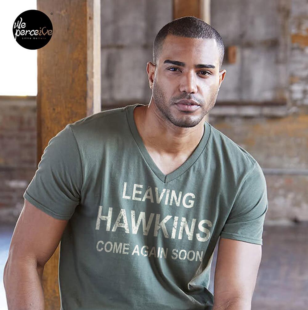 Stranger Things Leaving Hawkins V-neck Tee