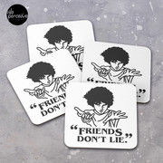 TV series inspired collection - Stranger things - FRIENDS DON'T LIE Coasters (Set of 4)