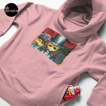 Movie inspired collection - Dracuzard - Count Dracula Toddler Pullover Hoodie in Pink