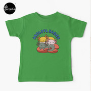 AXOLOTL WAVE Style 2 - We are the CUTEST CREATURE in the Water World Kids T-Shirt in Green