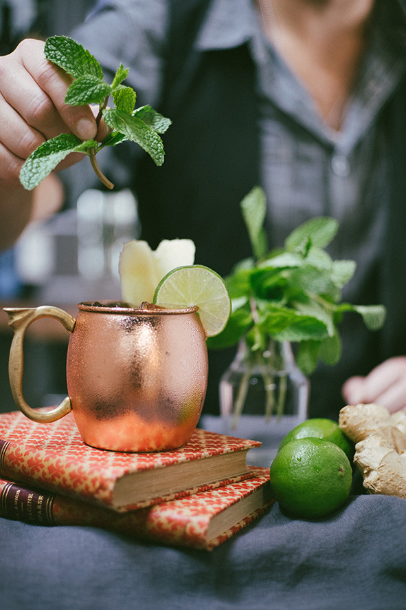 Lime water with mint