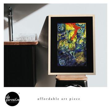 Collage art piece framed print