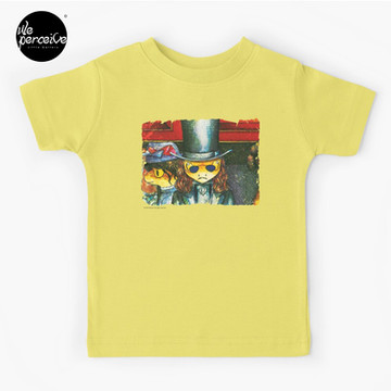 Movie inspired collection - Dracuzard - Count Dracula Baby T-Shirt in light yellow