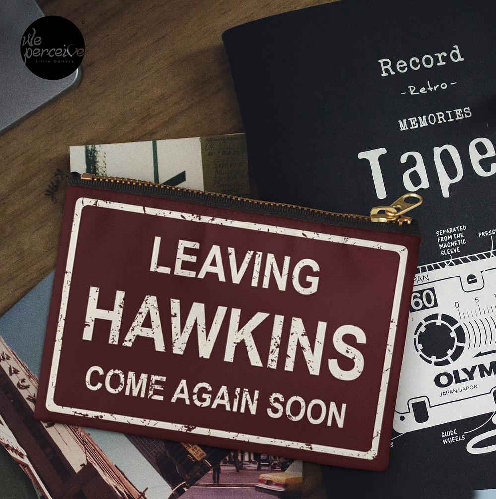 Stranger things Leaving Hawkins Multi Purpose Zipper Pouch