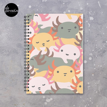 AXOLOTL WAVE - We are the CUTEST CREATURE in the Water World Spiral Notebook