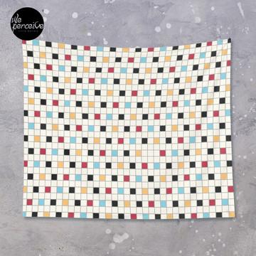 We LOVE the 80s - VINTAGE grid pattern Tapestry