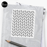 Geometric pattern - simple, black & grey Sticker