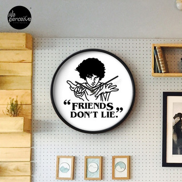 TV series inspired collection - Stranger things - FRIENDS DON'T LIE Clock