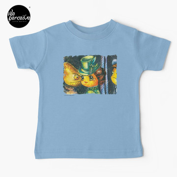Movie inspired collection - Dracuzard - Mina Harker Baby T-Shirt in Light Blue