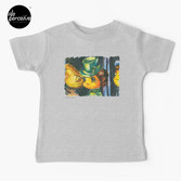 Movie inspired collection - Dracuzard - Mina Harker Baby T-Shirt in Heather Grey