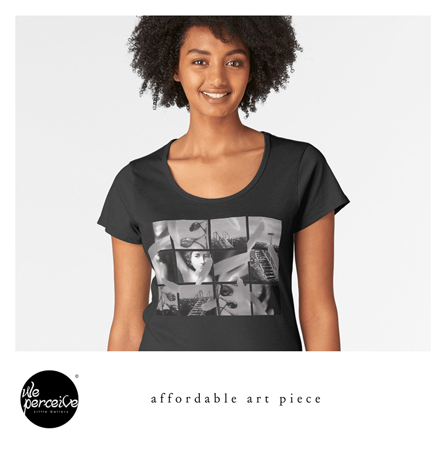 Collage Art Women T-shirt