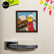 Bearded Dragon Illustration with Wolfgang Amadeus Mozart Cosplay Magnet