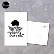 TV series inspired collection - Stranger things - FRIENDS DON'T LIE Postcard