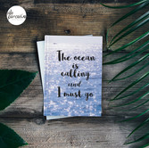 Sea photography hardcover notebook