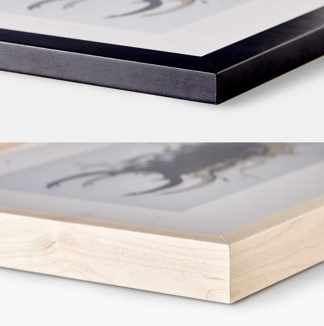 quality finish, top: flat frame, bottom: box frame