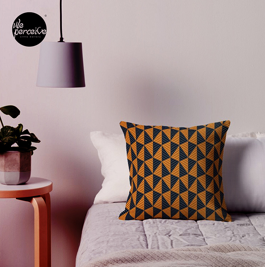 Egypt day and night pattern throw pillow