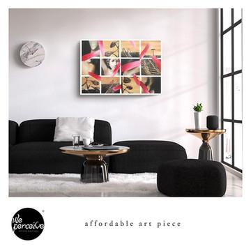 Harmonic collage art piece canvas print