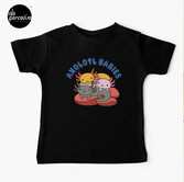 AXOLOTL WAVE Style 2 - We are the CUTEST CREATURE in the Water World Kids T-Shirt in Black