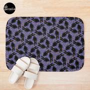 WE LOVE M.C. ESCHER style - Axolotl symmetrical pattern Bath Mat
