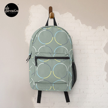 Minimal Circle Pattern in Charcoal Backpack