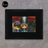 Movie inspired collection - Dracuzard - Count Dracula Framed Art Print