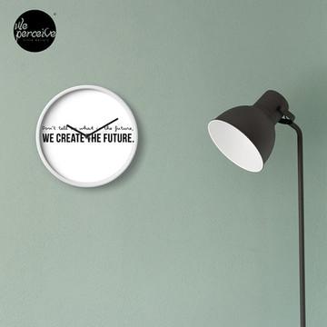 Create the future wall clock in white
