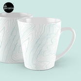 PSYCHOLOGY MUG in mint green contour lines