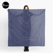 Psychology things - Maslow's HIERARCHY of NEEDS - Dark Blue Scarf