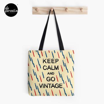 KEEP CALM AND GO VINTAGE Tote Bag