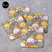AXOLOTL WAVE Style 2 - We are the CUTEST CREATURE in the Water World Coasters (Set of 4)