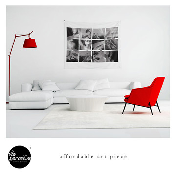 Harmonic collage art piece wall tapestries