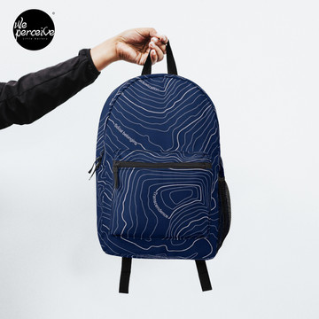 Psychology things - Maslow's HIERARCHY of NEEDS - Dark Blue Backpack