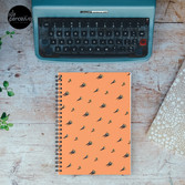 DAY - Egypt pyramid and cactus pattern in ORANGE Spiral Notebook