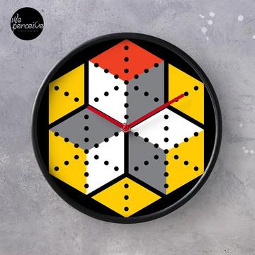 Geometric Cubes Clock