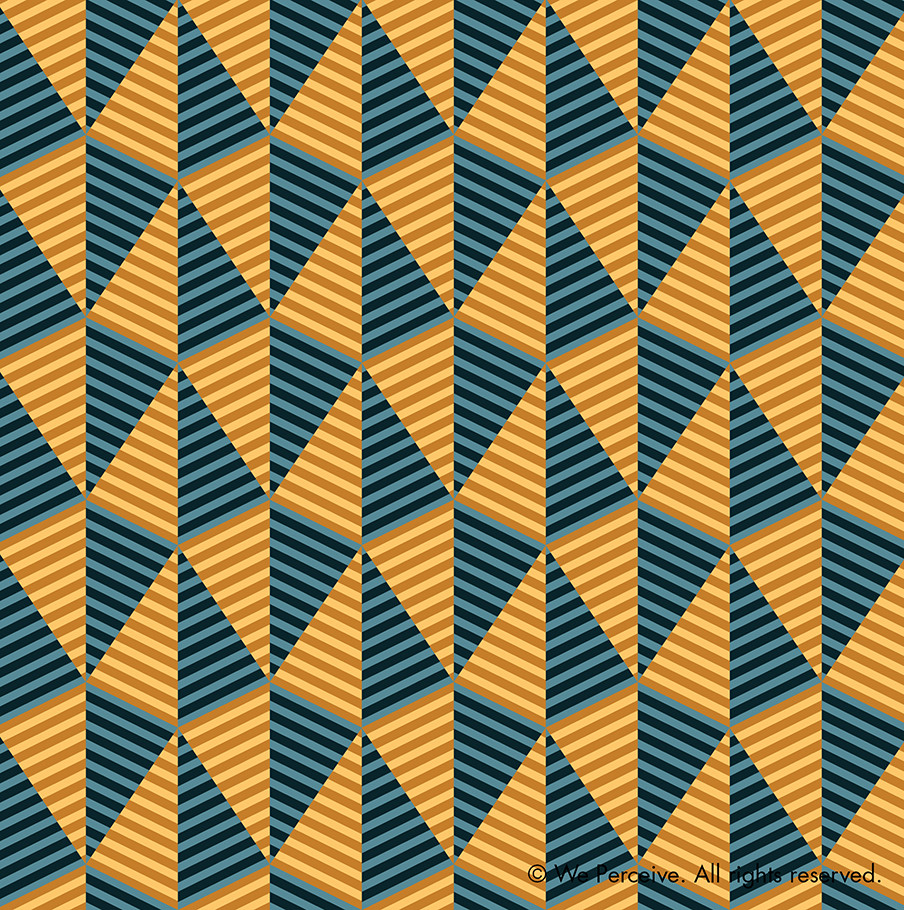 Egypt day and night yellow and blue geometric pattern